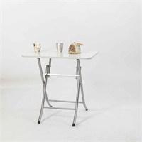 Ellnaz Yana Yatan Mutfak ve Balkon Masası Beyaz 50x80
