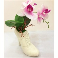 Practika Topuklu Ayakkabı Tasarımlı Seramik Vazo