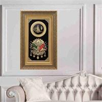 Siyah Yaldızlı Çerçeve Osmanlı Arması Tablo