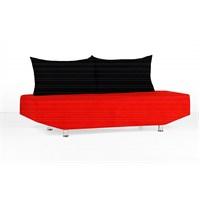 Sigma Tasarım Venedik Kılıflı Kanepe Kırmızı Siyah