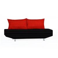 Sigma Tasarım Venedik Kılıflı Kanepe Siyah Kırmızı