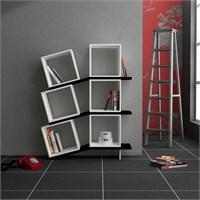 Decortie Balance Kitaplık Beyaz-Siyah