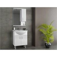 Evmanya Haus 65 cm Lavabolu Banyo Dolabı - Beyaz