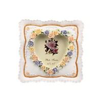 Evino Polyester Tekli Çerçeve Renkli Çiçekler Kalpli