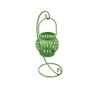 Evino Metal Şamdan Standlı Beyaz Sarı Yeşil Yeşil