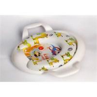 Sünger Dolgulu Konforlu Bebek Klozet Oturağı-Beyaz