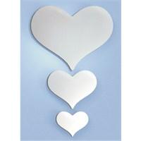 Üç Kalp Dekoratif Ayna