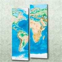 Dekorjinal 2 Li Dikdörtgen Kanvas Tablo Seti Sel014