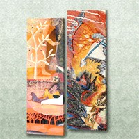 Dekorjinal 2 Li Dikdörtgen Kanvas Tablo Seti Sel045