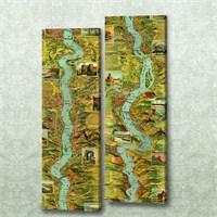 Dekorjinal 2 Li Dikdörtgen Kanvas Tablo Seti Sel051