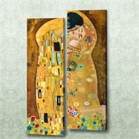 Dekorjinal 2 Li Dikdörtgen Kanvas Tablo Seti Sel070
