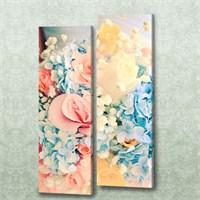 Dekorjinal 2 Li Dikdörtgen Kanvas Tablo Seti Sel088