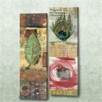 Dekorjinal 2 Li Dikdörtgen Kanvas Tablo Seti Sel094