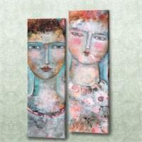 Dekorjinal 2 Li Dikdörtgen Kanvas Tablo Seti Sel107