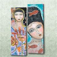 Dekorjinal 2 Li Dikdörtgen Kanvas Tablo Seti Sel112