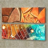 Dekorjinal 2 Li Panaromic Kanvas Tablo Ugu033