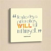 Dekorjinal Slogan Kanvas Tablo Slo068