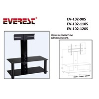 Everest Ev-102-110S 110Cm Siyah Lcd Tv Sehpası