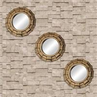 3' lü Antik Bronz Ayna Seti
