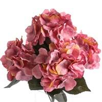 Yedifil Hydrangea Pembe Yapay Çiçek 1 Alana 1 Bedava