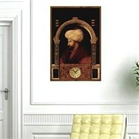 Fatih Sultan Mehmet - Çerçeveli Kanvas Saat