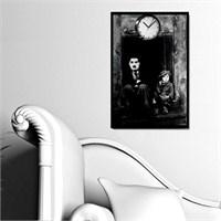 Charlie Chaplin - Çerçeveli Kanvas Saat