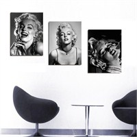 Marilyn Monroe - 3 Parçalı Kanvas Tablo