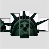 Özgürlük Anıtı - 5 Parçalı Kanvas Tablo - 133X75 Cm