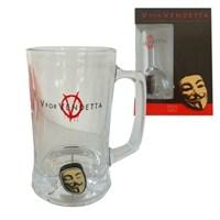 V For Vendetta 3D Rotating Mask Crystal Stein Bardak