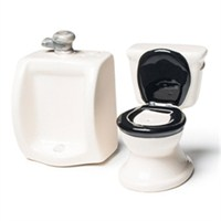 Tuvalet Pisuvar Tuzluk Biberlik Seti