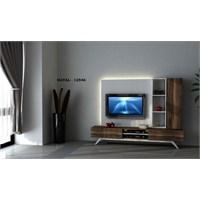 Hayal 12546 Tv Ünitesi Leon Ceviz/Parlak Beyaz