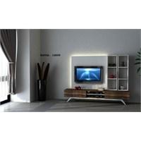 Hayal 12655 Tv Ünitesi Leon Ceviz/Parlak Beyaz