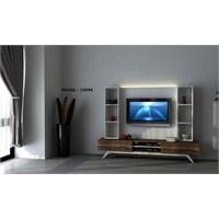 Hayal 12556 Tv Ünitesi Leon Ceviz/Parlak Beyaz