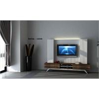 Hayal 12336 Tv Ünitesi Leon Ceviz/Parlak Beyaz
