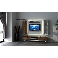 Hayal 124569 Tv Ünitesi Leon Ceviz/Parlak Beyaz