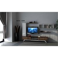 Hayal 12358 Tv Ünitesi Leon Ceviz/Parlak Beyaz