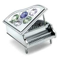 Swarovski Taşlı Minyatür Piyano