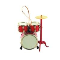 Askılı Çalgı Minyatür Davul Set Kırmızı