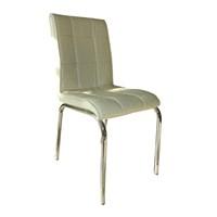 Mavi Mobilya Sandalye Beyaz Suni Deri (6 Adet)