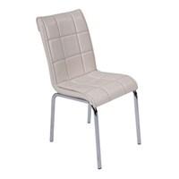 Sandalye Krem Suni Deri (6 Adet)