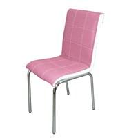 Sandalye Parlak Lila Suni Deri (6 Adet)