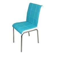 Sandalye Turkuaz Suni Deri (4 Adet)