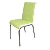 Sandalye Yeşil Suni Deri (4 Adet)