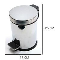 HomeCare 25 Cm Pedallı Paslanmaz Çöp Kovası 091379