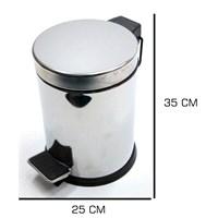 HomeCare 35 Cm Pedallı Paslanmaz Çöp Kovası 091380
