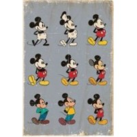 Maxi Poster Mickey Mouse Evolution