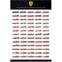 Maxi Poster Ferrari The Evolution Of Scuderia Cars
