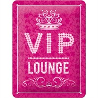 VIP Pink Lounge Duvar Panosu (15 x 20 cm)
