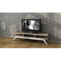 New Retro Tv Sehpası Sonomo/Beyaz