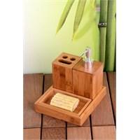 Royal Windsor 4 Parça Lüx Bambu Banyo Seti